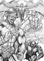 Cyclope and X-men by leandro-sf