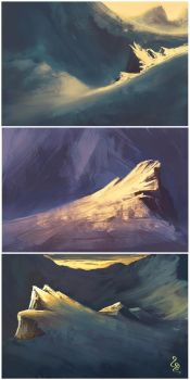Landscapes training - Cold moutains by soon38
