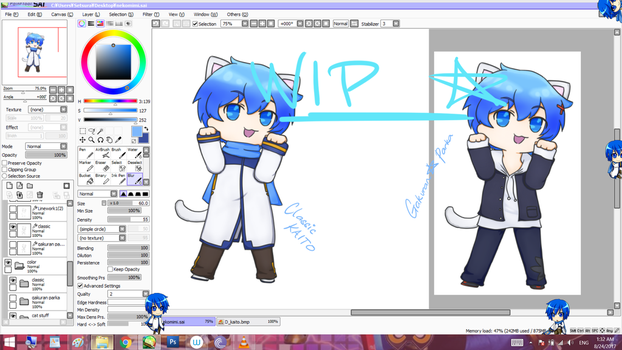 another KAITO cat boi idk by SetsuraChii