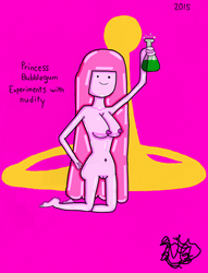 Princess Bubblegum Experiments With Nudity by TheNaughtyGoblin