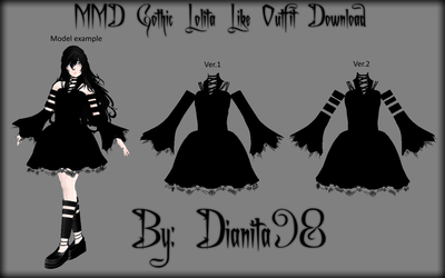 MMD Gothic Lolita Like Outfit Download by dianita98