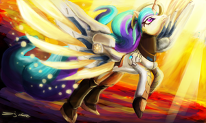 Mercy Celestia (MLP x Overwatch) by eddywardster