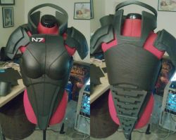 FemShep Cosplay WIP Chest/Back/Collar by AyameFeitom