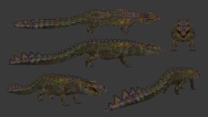 Carnivores+ Clementosuchus by Poharex