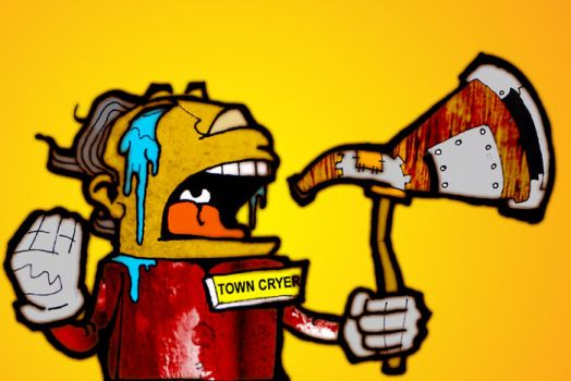 The Town Cryer by paenguin