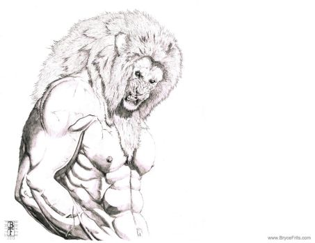 not so Cowardly Lion by BryceFrits