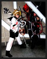 Axel and Roxas Halloweentown by FullMetalWing