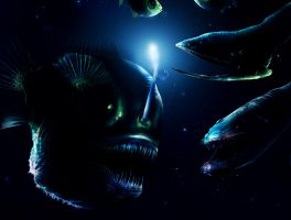 Deep sea monsters - detail by 8025glome