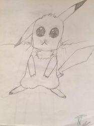 Pikachu Sketch by DoctorPeguin