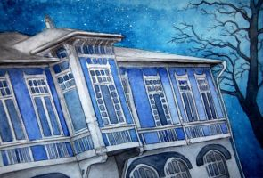 blue house by moussee