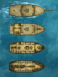 Battlemap - The Merryweather Merchant Sailing Ship by RoninDude