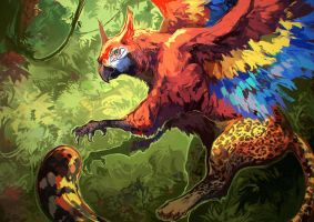 jungle gryphon by Garmmon