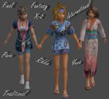 FFX-2 Traditional Dressphere Pack by Frozen-Knight