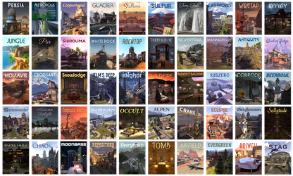 TF2 Community Map Awareness Quiltage by Ixy42