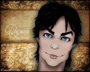 Damon Salvatore manga by sendee
