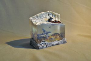 Micro polymer clay resin ocean angled shot by Morphine04