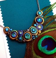New Peacock Bubbles Necklace by MandarinMoon