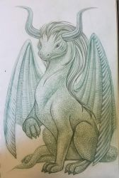 dragon illustration sketch by snuapril01