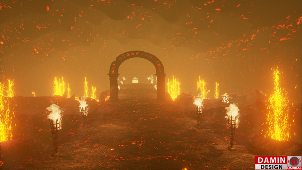Unreal Engine 4 Volcano by DaminDesign