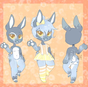 Blueberry Bunny Adoptable | Closed! by AdoptableAddicted