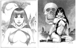 Vampirella commissions by PaulAbrams