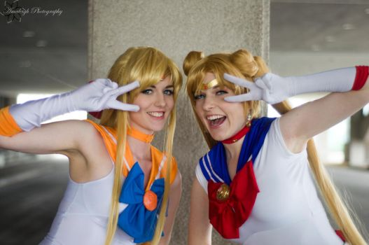 Sailors of Love and Justice : Sailor Moon + Venus by Lossien