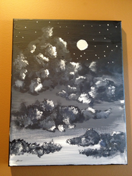 night sky :painting: by AmazingGlideh