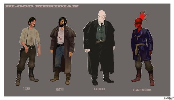 Blood Meridian Character Concepts by DNMNY