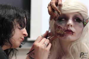 backstage Zombirella (movie) by made-me-a-monster
