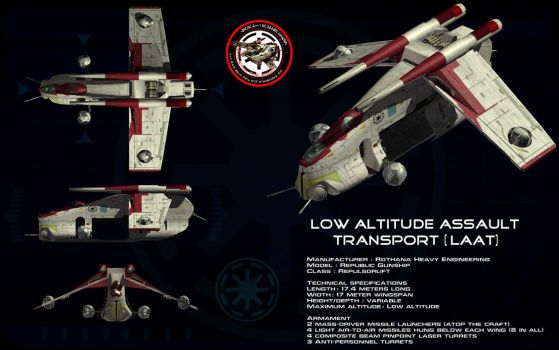 Low Altitude Assault Transport (LAAT) ortho by unusualsuspex