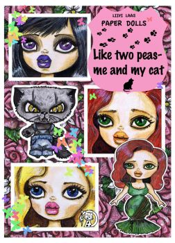 Me and cat by Mauau