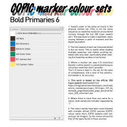 COPIC marker colour set - Bold Primaries 6 by d-signer