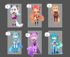 Adoptable batch 006 (Auction) - CLOSED by Nelliette