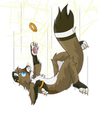 Namid falling [transparent background] by Elmer157Typhlosion