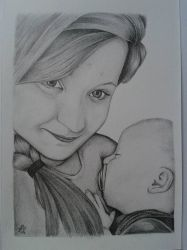 Mother and baby by davidsteeleartworks