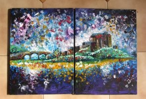 Distressed Horizon Diptych by Naomi89
