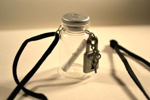 Message in a Bottle Necklace by Cicilicious