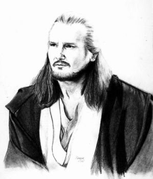 Liam Neeson as Qui-Gon Jinn by aBal0rio