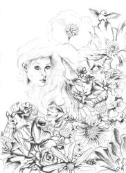 Flowers And Dreamscapes [1]: Black and White by katpatterson
