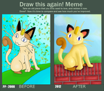Draw this again - Meowth by Beagon