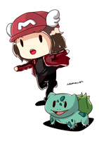 ART REQUEST : Cotokun with Bulbasaur by melononnnnn