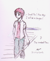D - The Crooked Man (ball pen) by ppeach444