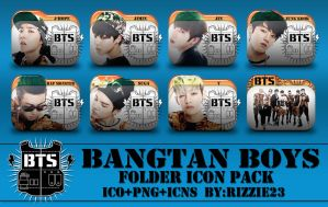 BTS Folder Icon Pack by Rizzie23