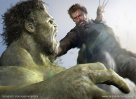 Logan Vs Hulk by vshen
