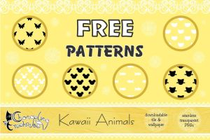 FREE Pattern Pack: Kawaii Animals by aiyanne-chan
