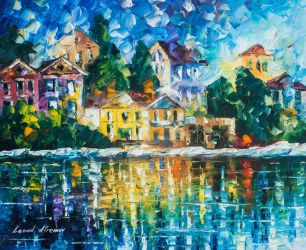 The Day The Rain Stopped by Leonid Afremov by Leonidafremov