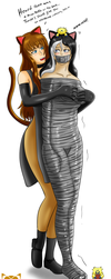 Cocooned Catgirl Cutie (Giftart) by Lady-of-Mud