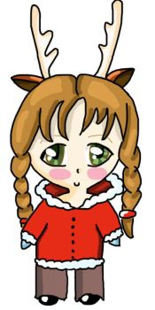 Badly done christmas chibi. by twisted-bunnies