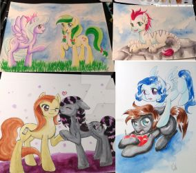 Galacon 2017 Commission batch 01 by Mana-Kyusai