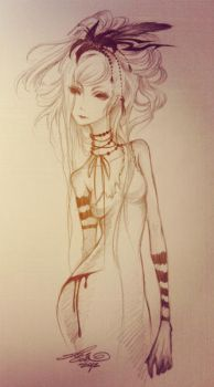 Sketch : Black Lily. by ghost